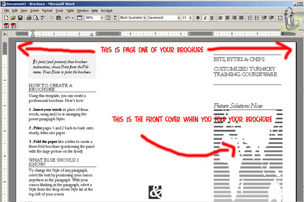 make brochure in word